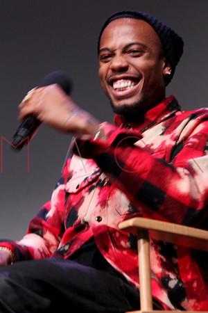 "NEW YORK, NY - NOVEMBER 04:  Musician B.o.B attends ""Meet The Musicians: B.0.B. at Apple Store Soho on November 4, 2013 in New York City."