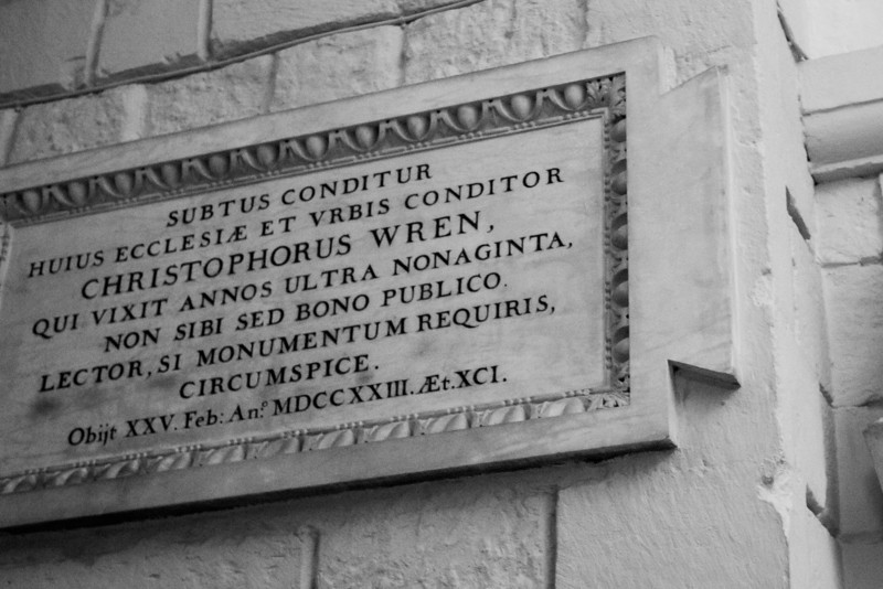 Christopher Wren Plaque