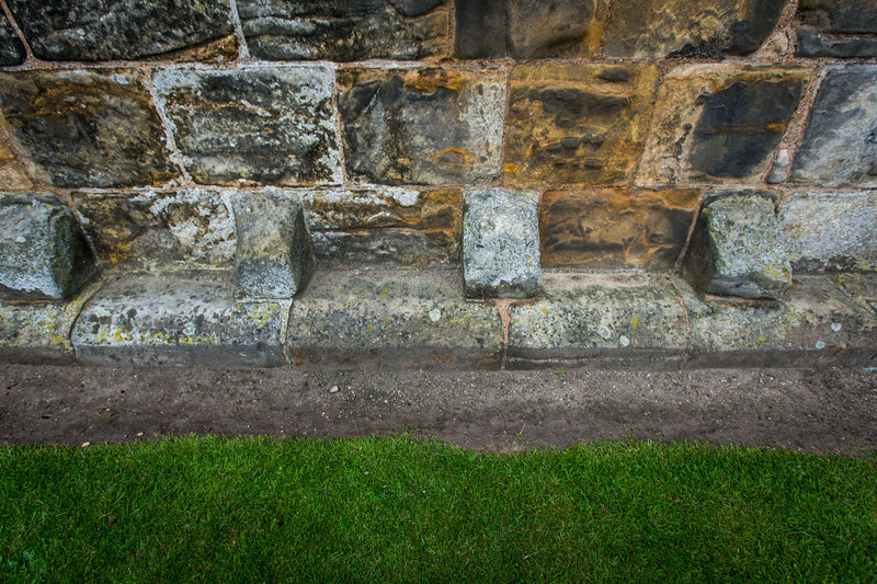 Original Decorative Base Stones of St Andrews Cathedral