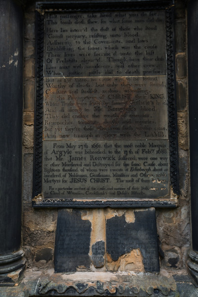 Covenanters Mass Grave Tombstone