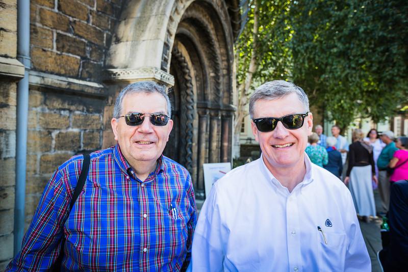 Sinclair Ferguson and Steven Lawson at the Round Church