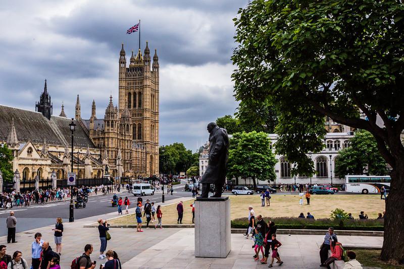 Churchill Statue