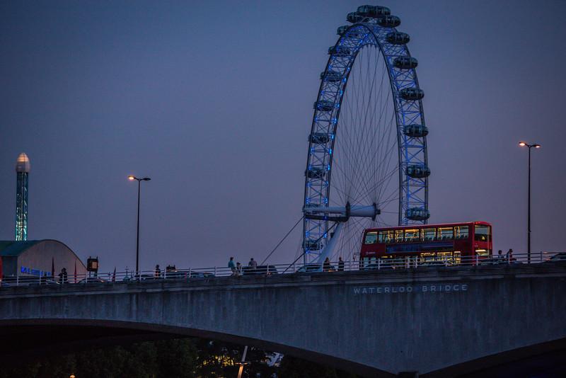 Waterloo Bridge and London Eye