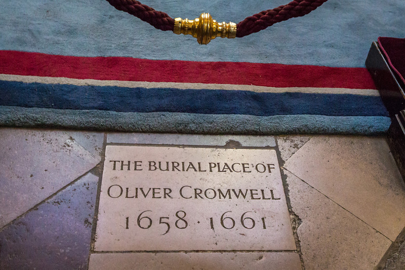 Temporary Burial Place of Oliver Cromwell in Westminster Abbey