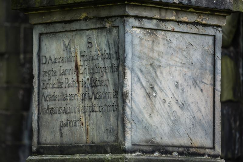 Gunshots and Sword strikes on Henderson's Grave