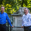 Chris Larson and Steven Lawson at John Bunyan's Grave
