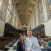 Steven and Anne Lawson at King's College Chapel