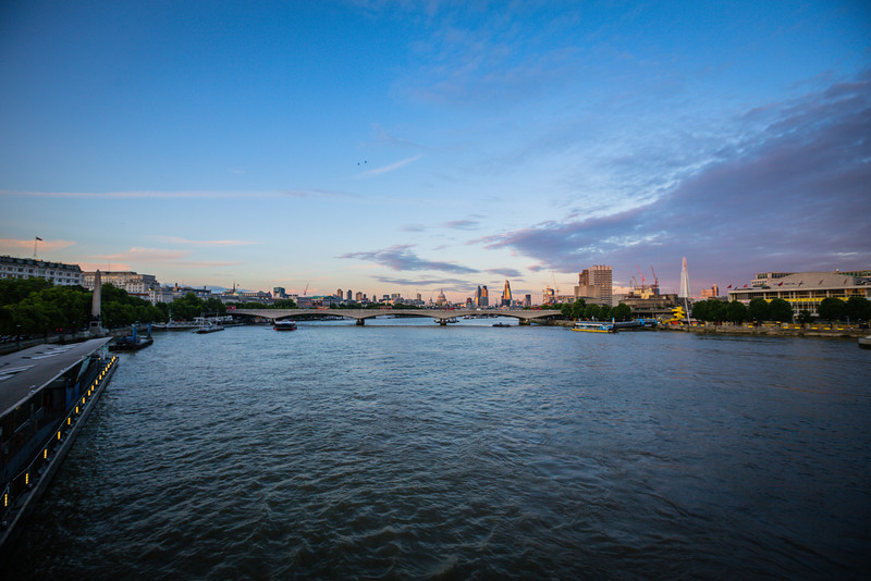 London Skyline from The River Thames