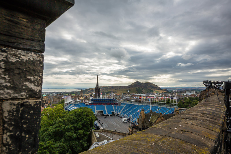 Military Tattoo Stadium from Edinburgh Castle