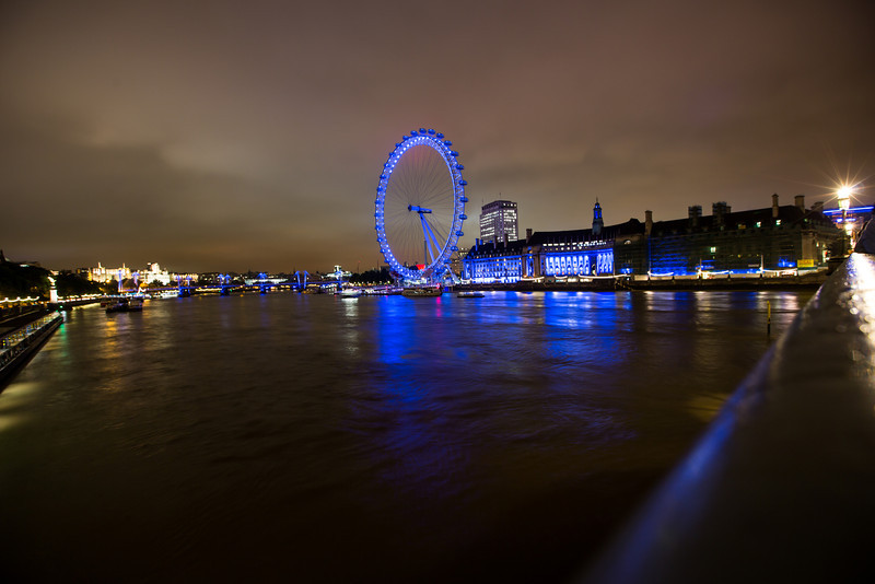 The River Thames and London Eye
