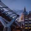 Millenium Bridge and St. Paul's Cathedral Dome