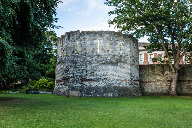 Roman Tower in York Museum Gardens