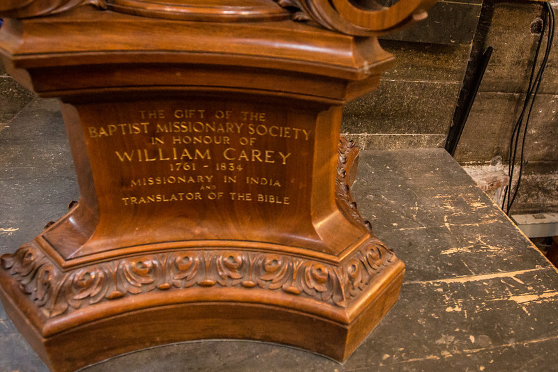 William Carey Pulpit in Westminster Abbey
