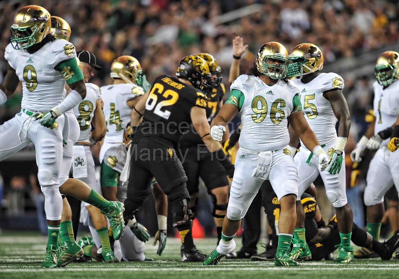 NCAA FOOTBALL: OCT 05 Notre Dame vs Arizona State