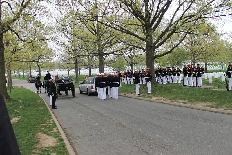 Full military honors!