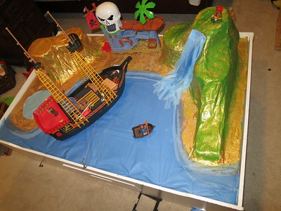 008-David's finished island and pirate's lagoon