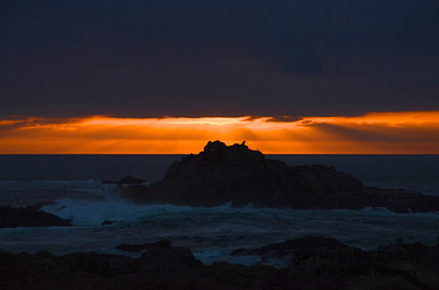 October - This photograph was captured from Point Lobos State Reserve as the sun set over a sea lion rock.