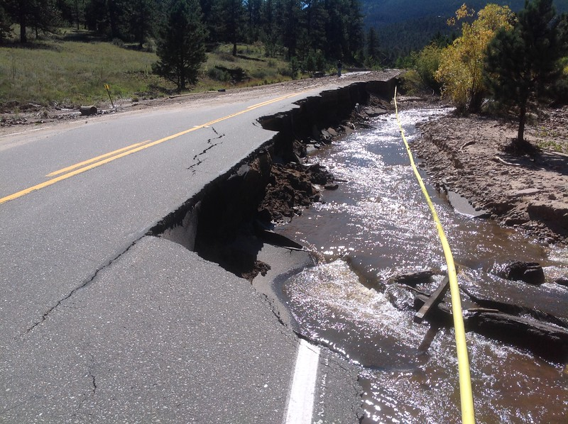 Some roads were completely destroyed