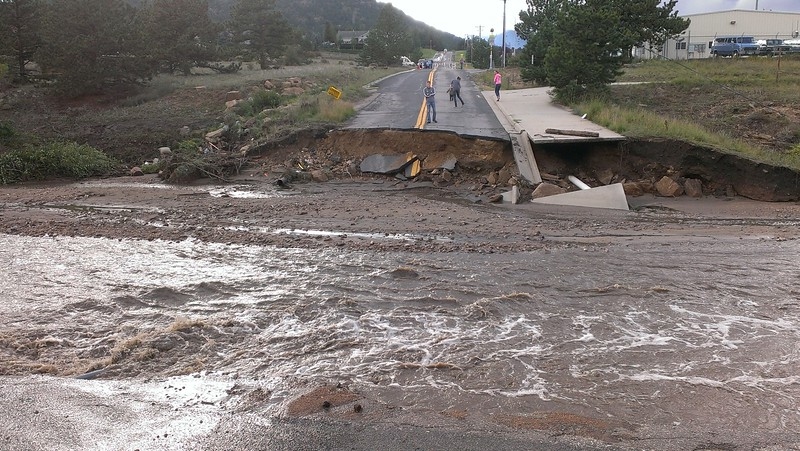 Brodie Avenue washed away