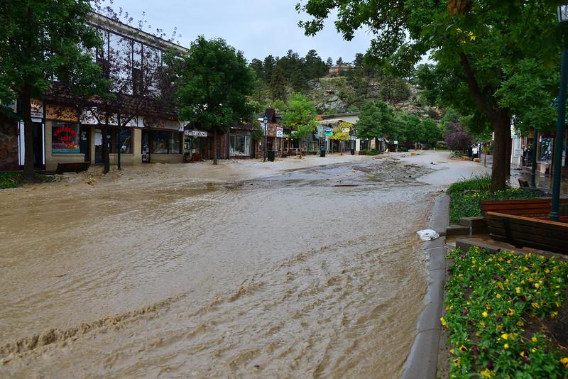 Water rushing down Elkhorn