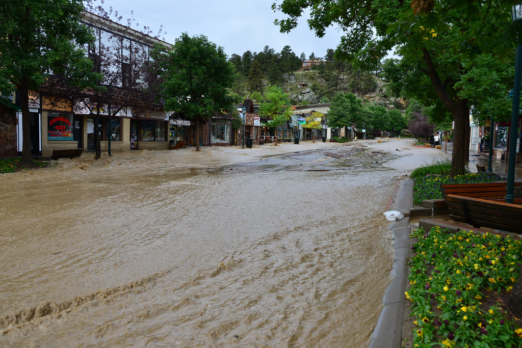 . Water rushing down Elkhorn