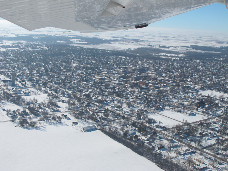 Downtown Jefferson, IA, after a touch and go landing at the Jefferson Airport