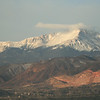 A cloud over Pikes Peak.