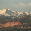 Pikes Peak, viewed from our hotel room window