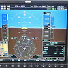 Instrument panel at 19,000 feet.  We went high to catch a 95 knot quartering tailwind.