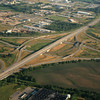 East Mix Master.  I-80 runs right to left.  I-35 goes North to upper right.  I-235 goes South to lower left.