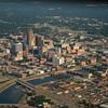 Downtown Des Moines and the Des Moines River.