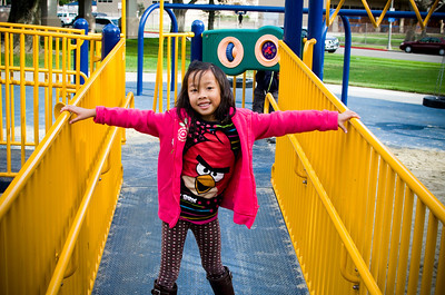 Mayfair Park with Eliana:  November 23, 2013
