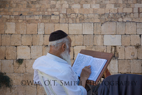 "Photos from the ""wailing"" wall where devout Jews come to pray."