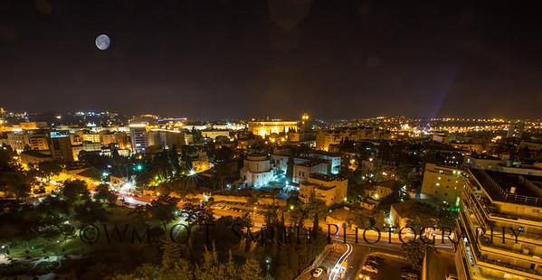 Jerusalem, the city of David at night!