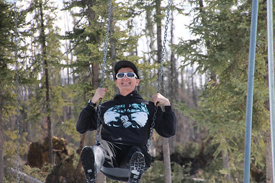 2013 Interior Alaska Road Tour  Brian enjoying Springtime.