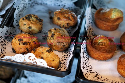 Kevin Bartram | Staff Baked goods are displayed as Cafe Beauregard opens for business on Tuesday on Main Street in New Britain.