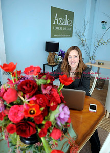 2/1/2013 Mike Orazzi | Staff  Christine D'Angelo at Azalea Floral Design in Plainville. ** for a Diane story **