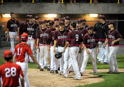 6/1/2013 Mike Orazzi | Staff Bristol Central afetr a 6-2 loss to the Fairfield Prep Jesuits in the Class LL Quarterfinals at Muzzy Field on Saturday night.