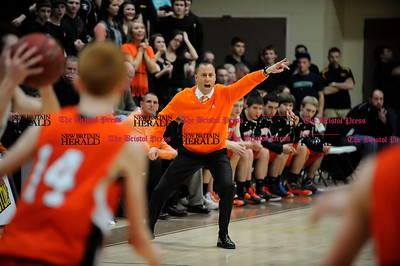 3/1/2013 Mike Orazzi | Staff Terryville's Mark Fowler during the Berkshire League Championship basketball game at Thomaston High School on Friday night.
