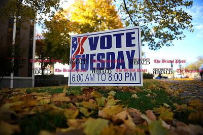 11/1/2013 Mike Orazzi | Staff A vote Tuesday sign in front of Bristol City Hall.