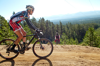 Ride 2 Recovery cyclists descend an area known as powerline, with some areas reaching a 20 percent grade, during the104-mile race with 1,500 other riders at the Leadville 100 Mountain Bike Race by setting up tents in the feed zones and checking bikes prior to the race. As a 501(c)(3) organization, Ride 2 Recovery helps injured active duty service members and veterans improve their health and wellness through individual and group cycling.