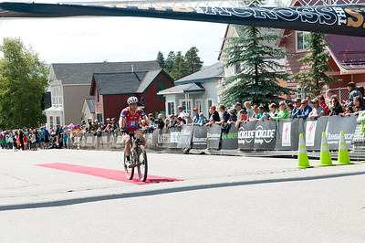 Ride 2 Recovery cyclists cross the finish line after completing the grueling 104-mile race with 1,500 other riders during the Leadville 100 Mountain Bike Race, all crossing in under the 12-hour mark to earn the coveted gold and silver belt buckles. As a 501(c)(3) organization, Ride 2 Recovery helps injured active duty service members and veterans improve their health and wellness through individual and group cycling.