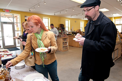 Gourmet Grilled Cheese Tasting Sustainable Farmer Windsor VT January 5, 2013 Copyright ©2013 Nancy Nutile-McMenemy www.photosbynanci.com For The Vermont Standard: http://www.thevermontstandard.com/ Image Galleries: http://thevermontstandard.smugmug.com/