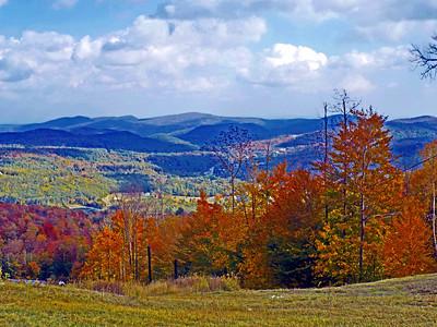 Okemo Mountain from Ludlow, Vermont