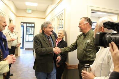 IMG_8356- Tom White, selectman, Steve Christy, Bank President