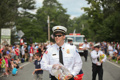 A fireman with candy