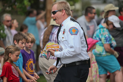 A fireman Gives out candy 3
