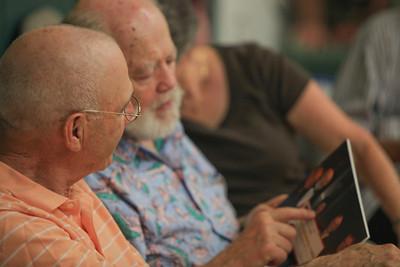 left2right Steve Halley, Richard Moir (co-founder of VSO wine-cellar findraising program