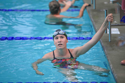 Louisa Oney after the finish of the 500 Freestyle