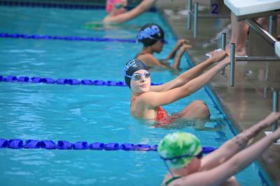Swimmers Prepare